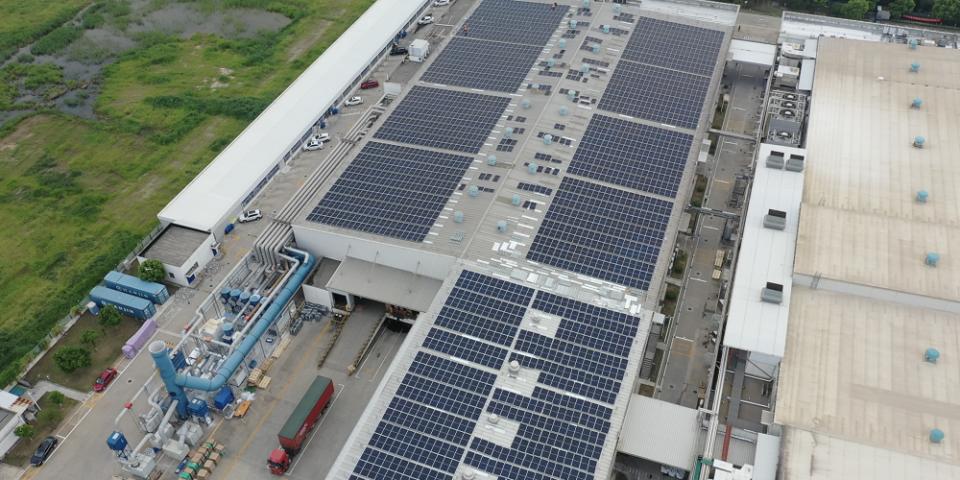 Solar power solution at Autoliv factory Nantong